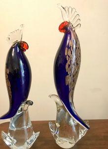 GlassOfVenice Murano Glass Cockatoo - b. and Gold